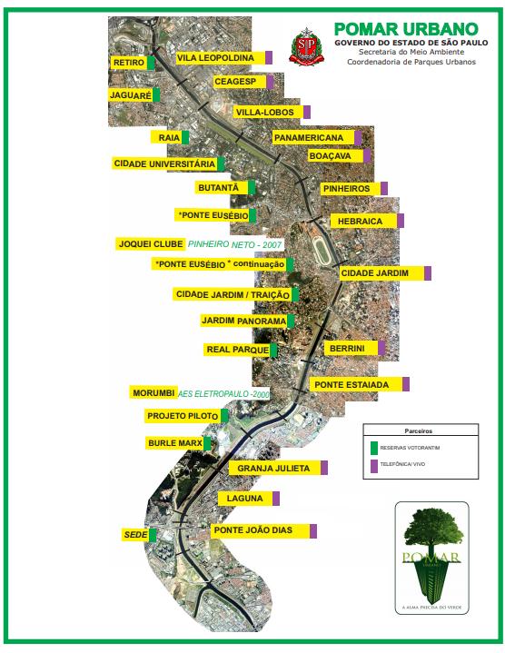 Mapa parceiros pomar urbano