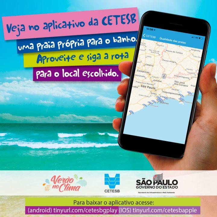 Aplicativo Cetesb - disponível para Android e IOS